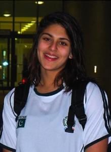 Anum representing Pakistan at Dubai championships